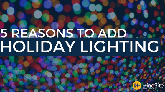 5 Reasons to add holiday lighting