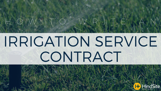 How to write an irrigation service contract