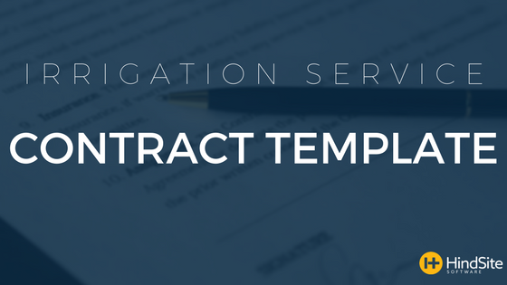 Irrigation Service Contract Template