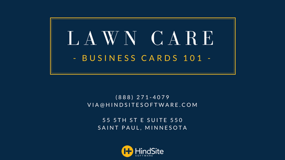 Lawn Care Business Cards 101 Png