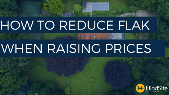 How to reduce flak when raising prices