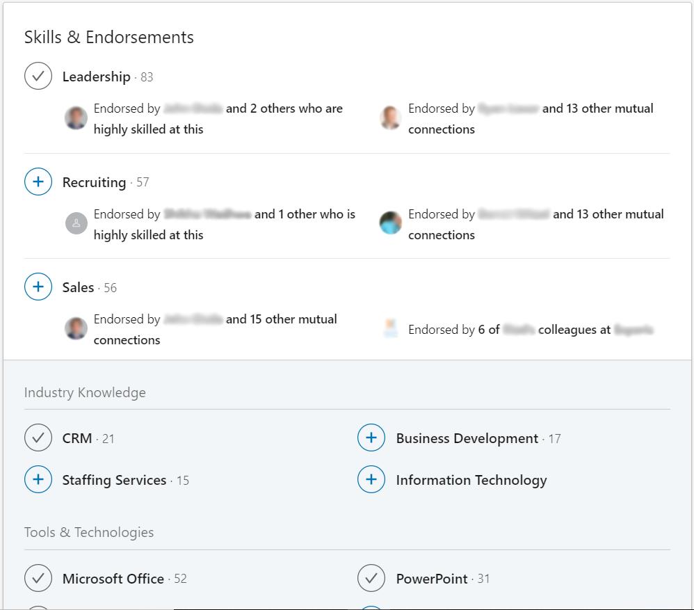 LinkedIn Endorsement Capture