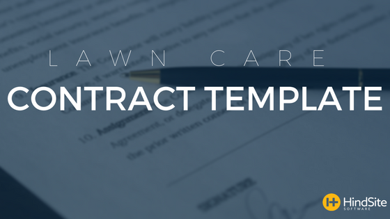 Lawn Care Contract Template - Lawn care contract template